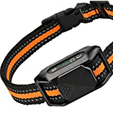 DOGRANGE Shock Dog Bark Collar - w/3 Vibration, Sound & Optional Shock Modes for Dogs Training - Rechargeable Anti Barking De