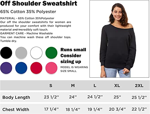 First You Make The Roux Slouchy Off Shoulder Oversized Sweatshirt