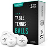 PRO SPIN Ping Pong Balls - White 3-Star 40+ Table Tennis Balls (Pack of 12 or 24) | High-Performance ABS Training Balls | Ult