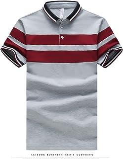 Carolyn Jones Summer New Men's Polo Shirt Male Leisure Big Striped Short Sleeves Polo Shirt