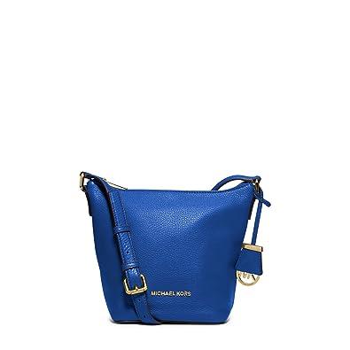 80f59a6eef59 Michael Kors Bedford Electric Blue Leather Small Cross-body & Shoulder Bag:  Handbags: Amazon.com