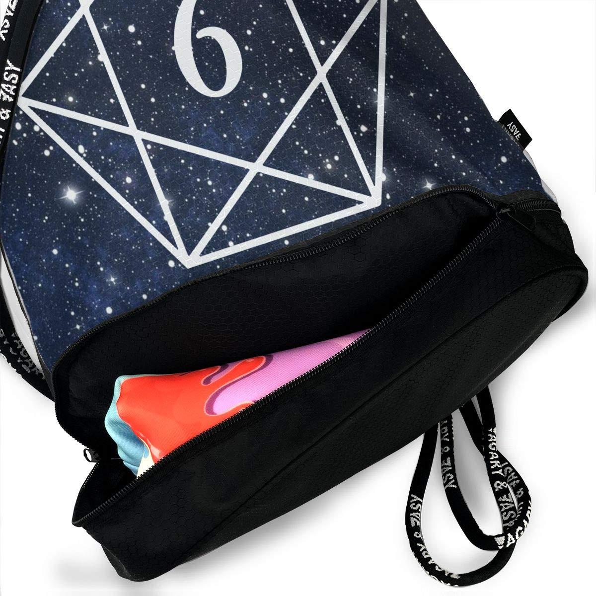 Sacred Geometry Men /& Women Drawstring Backpack Bag Beam Mouth School Travel Backpack Rucksack Shoulder Bags