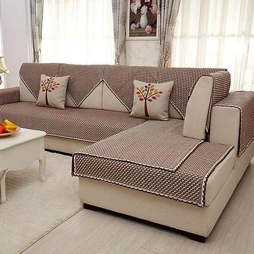 TT&CC Funda de sofá 100% algodón,Rayas Simple Anti-Que Patina ...
