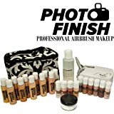 Photo Finish Professional Airbrush Cosmetic Makeup Deluxe System Kit Master Set / Fair to Tan Shades