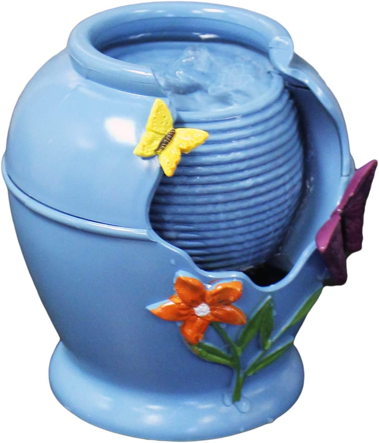 Natures Mark 5.5 Butterflies /& Flowers Tranquility Tabletop Water Fountain Battery Operated