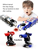 17Tek Transformers Robot Police Car Toy Pack of 2