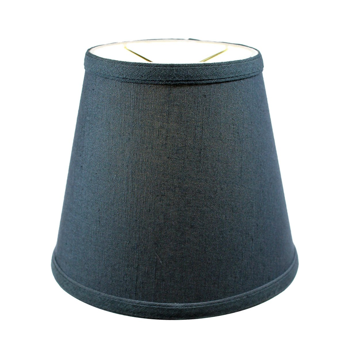 5x8x7 Textured Slate Blue Hard Back Lampshade Clip On Fitter by Home Concept - Perfect for Small Table Lamps, Desk Lamps, and Accent Lights -Small, Blue by HomeConcept (Image #4)