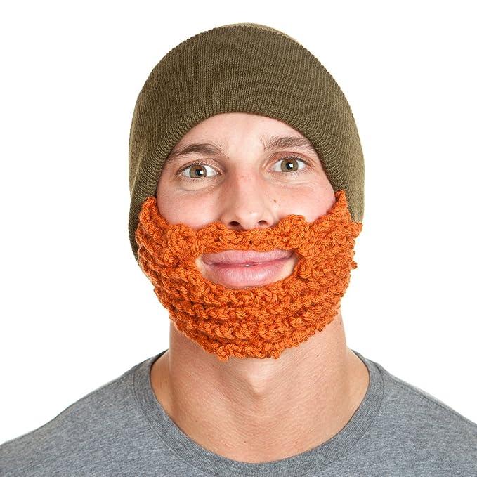 Amazon.com  The Original Beard Beanie Lumberjack Style-Olive Ginger ... 5f77b3c570a