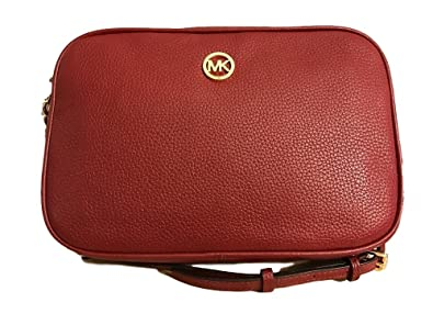 de13d4cd59a9 MICHAEL KORS Fulton Large East West Crossbody in Cherry: Handbags ...