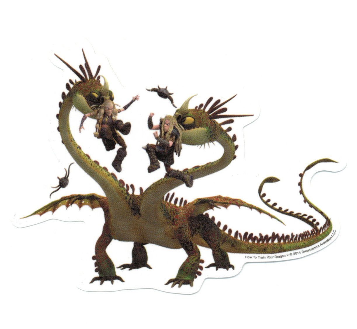 Amazon: How To Train Your Dragon 2 Fishlegs And Meatlug Sticker:  Automotive