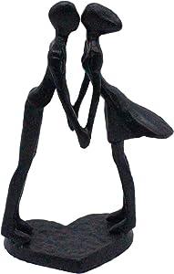 Plexon Kissing Couple Sculpture Decoration Iron Sculpture Figurine Tender Kiss