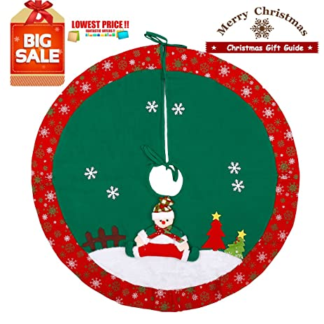 dpowro christmas tree skirt 36 inch xmas home holiday decorburlap - Burlap Christmas Decorations For Sale
