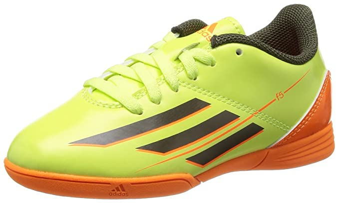 ec6c041e0 Adidas F5 IN J Boys Indoor Soccer Sneakers Boots-Green-4.5  Amazon ...