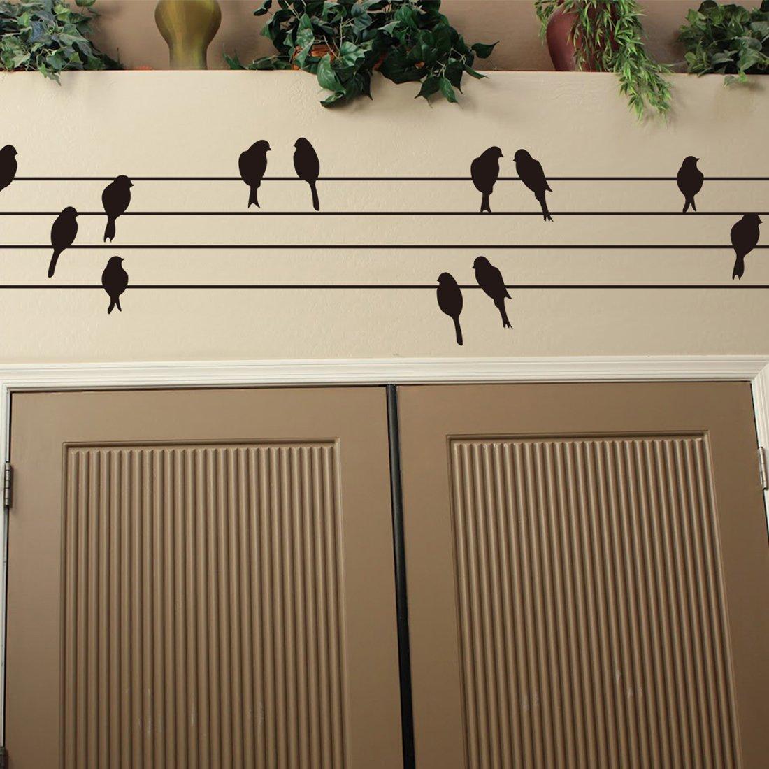 joyliveCY CY-buity 30/* 115/cm p/ájaros sobre cables sala de estar moderna pared arte Mural adhesivo presente regalo