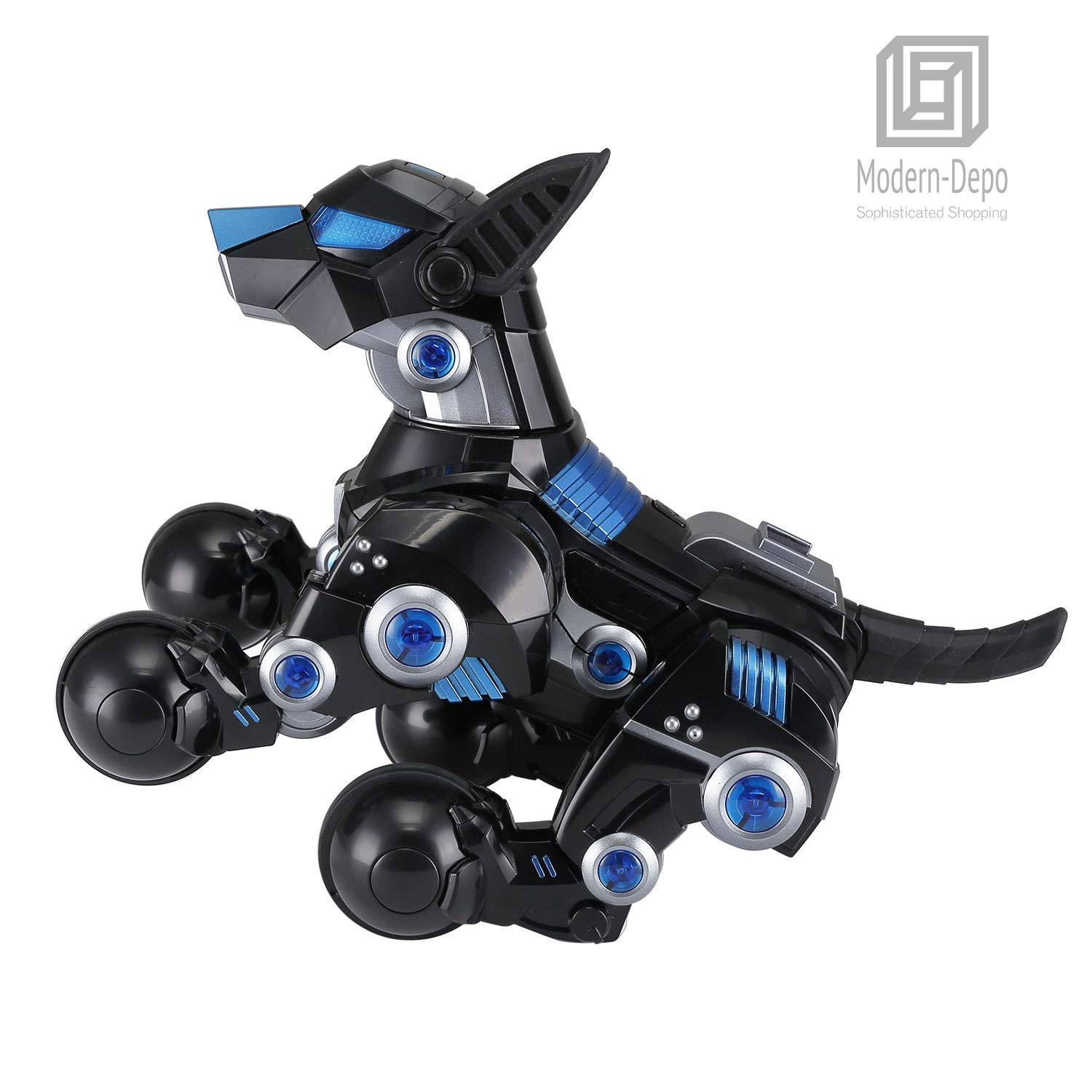 Modern-Depo Rastar Intelligent Robot Dog with Remote Control for Kids, USB Charging, Dancing Demo - Black by Modern-Depo (Image #5)