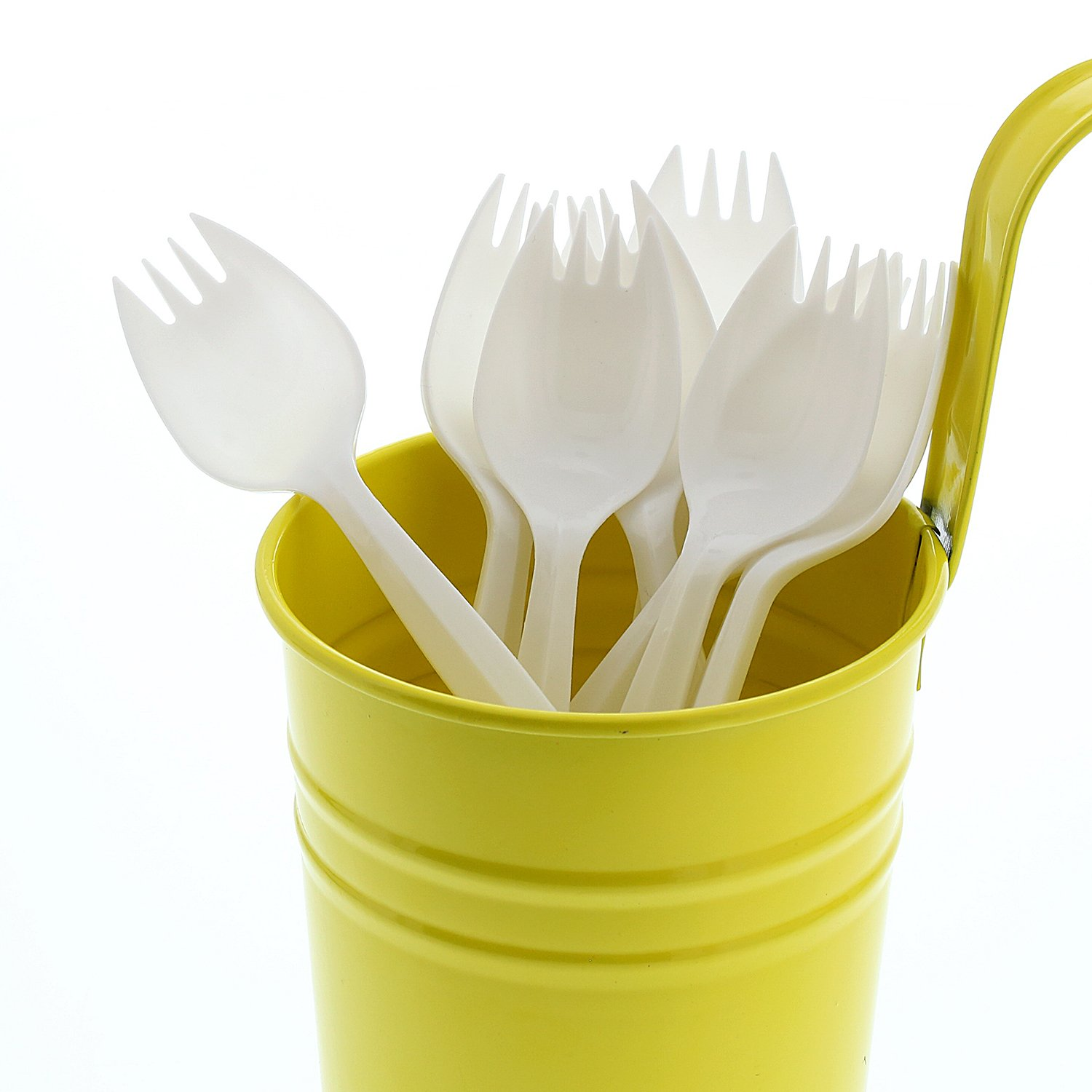 AmerCare Medium Weight Polypropylene Sporks, White, Case of 1000 by AmerCare