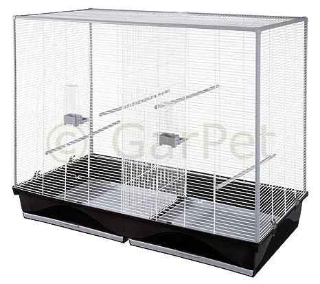 Gran pájaro jaula pájaros doble jaula separador separador Cría de ...
