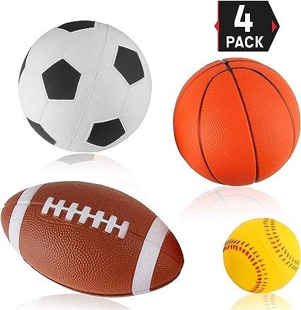 Amazon.com: Conjunto de 4 pelotas de suave PU Mini Sports ...