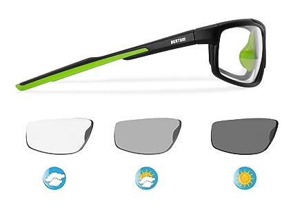 7886f72251 Bertoni Sports Polarized Sunglasses Photochromic Cycling Ski Running Golf -  Antifog Lens - Adjustable Nose - mod. F180 Sunsensor Glasses - Tr90 Durable  ...