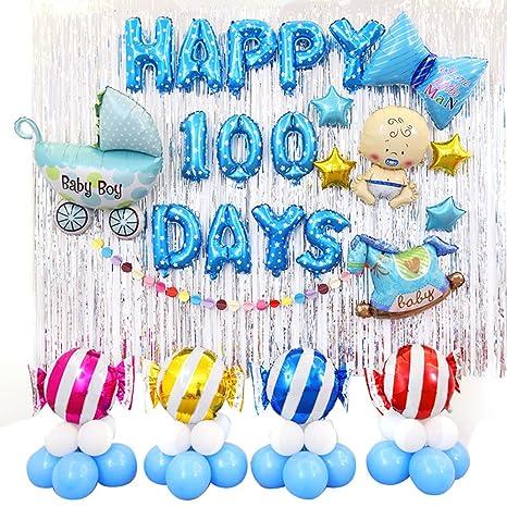 Amazon Riverbyland Colorful 100 Days Mylar Birthday Balloons