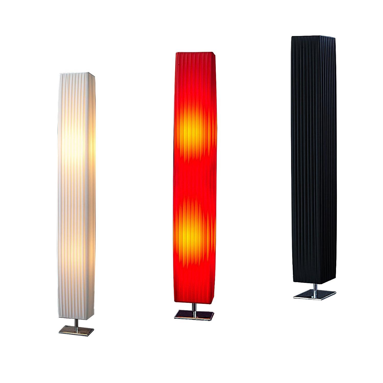 Design Stehlampe PARIS Weiss 120 Cm Stehleuchte Mit Chrom Fuss Wohnzimmer Lampe Leuchte Standleuchte Amazonde Beleuchtung