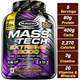 Muscletech Performance Series Mass Tech Extreme 2000 (Post-Workout, 80g Protein, Over 400g Carbs, 2270 Calories, 3g Creatine) - 6 lbs (2.72 kg) (Triple Chocolate Brownie)