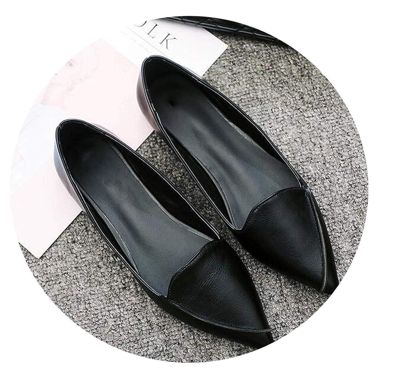 3cfbab36a04a8 Amazon.com | Chercher M Women Spring Pointed Toe Flat Shoes Ballet ...