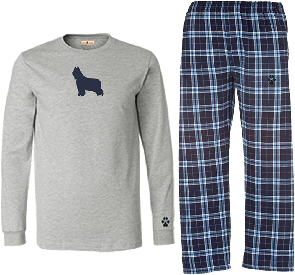 YourBreed Clothing Company Briard Mens Flannel Pajamas.