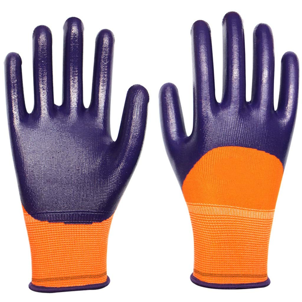 LZRZBH Industrial Gloves,Working Gloves Comfort Coated Work Gloves, Breathable,Knit Wrist Cuff, Medium Size Fit Most (Color : J)