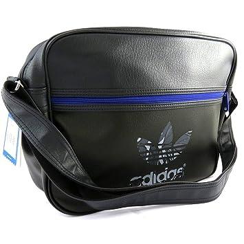 19d3cc1b39 Adidas [M2934] - Sac bandoulière 'Adidas' noir bleu (37x28x11 cm ...