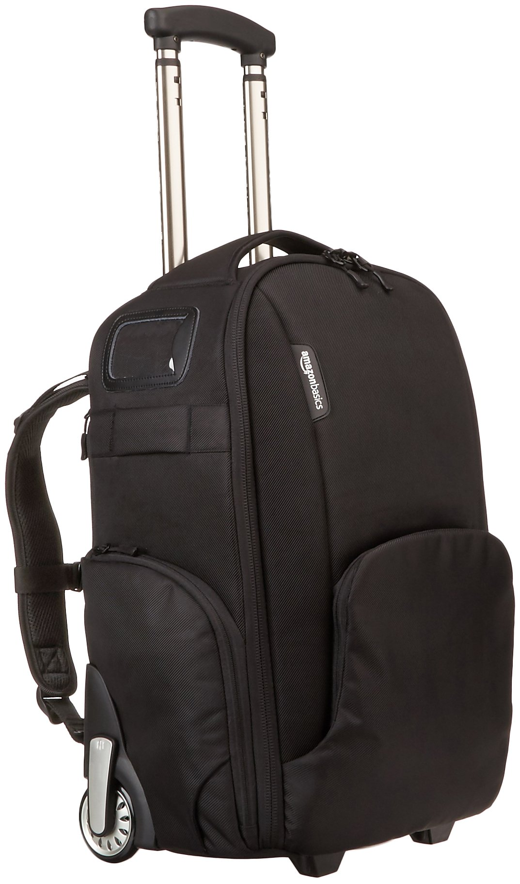 AmazonBasics Convertible Rolling Camera Backpack Bag - 15 x 22 x 10 Inches, Black by AmazonBasics