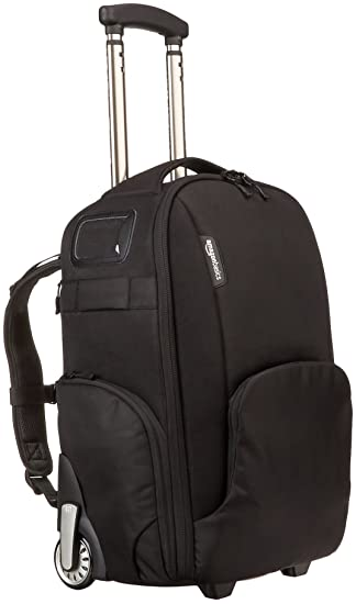Amazon.com : AmazonBasics Convertible Rolling Camera Backpack ...