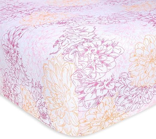 Burt/'s Bees Baby Fitted Crib Sheet Girls /& Unisex 100/% Organic Cotton...
