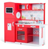 Plum Terrace Red Apple Wooden Role Play Kitchen