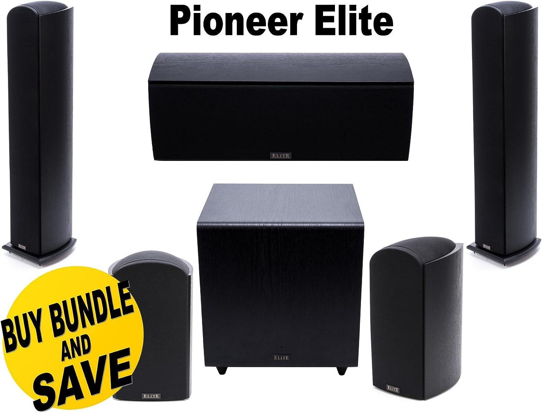 Pioneer Elite SP-EBS73-LR Black Dolby Atmos Bookshelf Speakers Pair