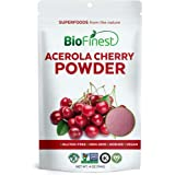 BioFinest Acerola Cherry Juice Powder -100% Pure Freeze-Dried Antioxidant Superfood - Usda Certified Organic Kosher Vegan Raw Non-Gmo - Boost Digestion Weight Loss - For Smoothie Beverage Blend (4 Oz)