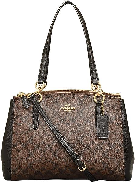 4ddc7114b Amazon.com: Coach Signature Small Christie Carryall in Brown / Black ...