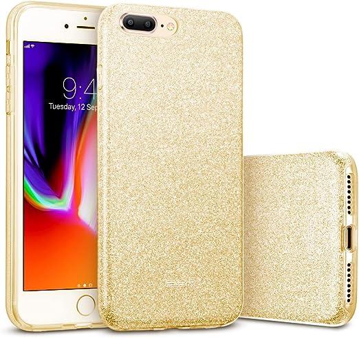 Coque pour iPhone 8 Plus, iPhone 7 Plus, ESR [série de maquillage] Sparkle Bling Bling Shinning Back Shell Skin [Design à trois couches avec bumper en ...