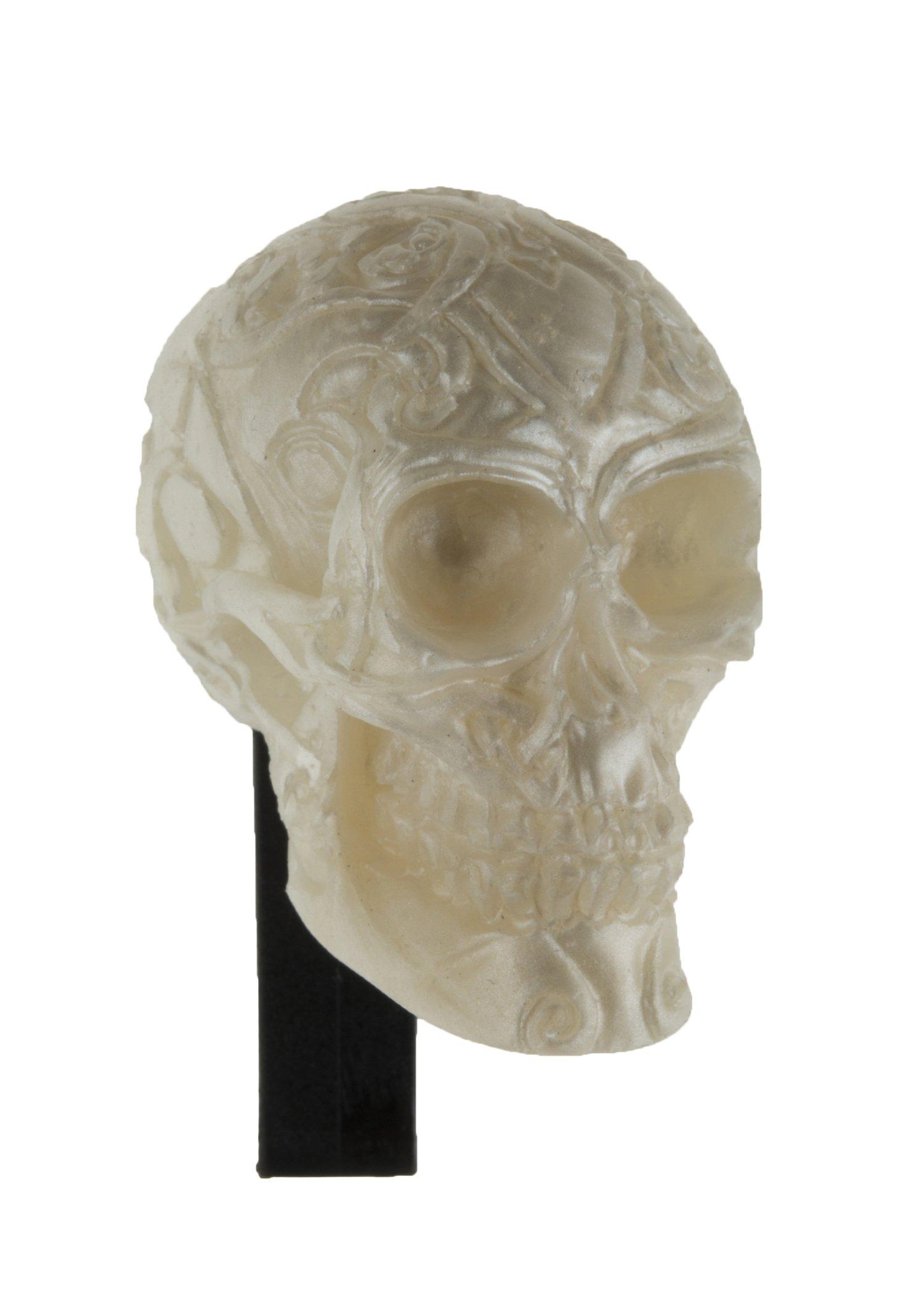 ExpressScent Skull Vent Clip Air Freshener (White - White Citrus) - 4 Pack