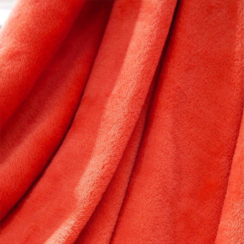 Brentfords 120 x 150cm Medium Coperta in Flanella di Pile Arancione Corallo