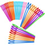 40 PCS Plastic Needles Include 20 PCS Large Eye Plastic Needles(2.7Inch/7cm) + 20 PCS Plastic Lacing Needles(3.5Inch/9cm…