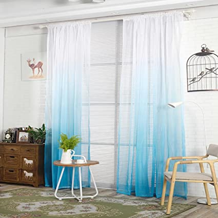 panel gradient curtains window curtain keepwin voile sheer ombre treatment dp for bedroom