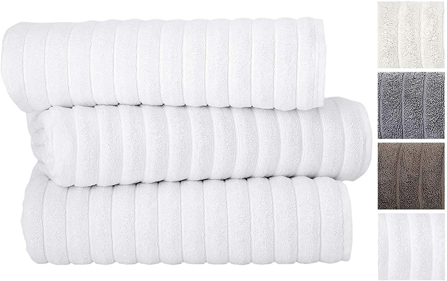 Excellent double stitching: Classic Turkish Luxury Bath Sheets