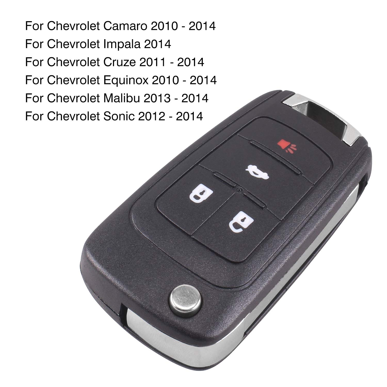 MagiDeal Replacement Folding Remote Key Fob Fits for Chevrolet Chevy Cruze Equinox