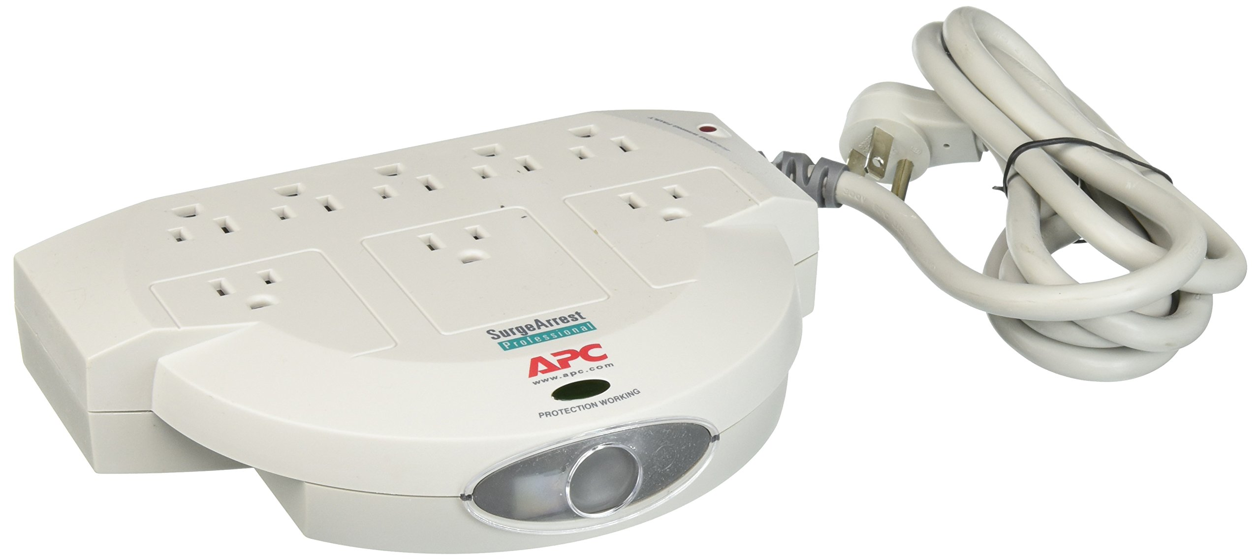APC (PRO8T2) Professional 8-Outlet SurgeArrest Home/Office with 2 Pairs Phone Line Protection Surge Protector