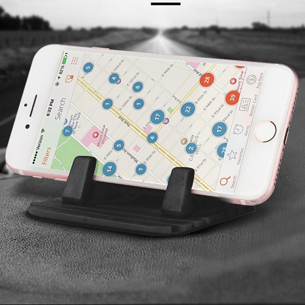 Car Silicone Dash Pad Mat, Universal Dashboard & Desktop Holder for Phones,Tablets, Mp3&Mp4 Player,GPS Navigator (Black) by Kintaz (Image #8)