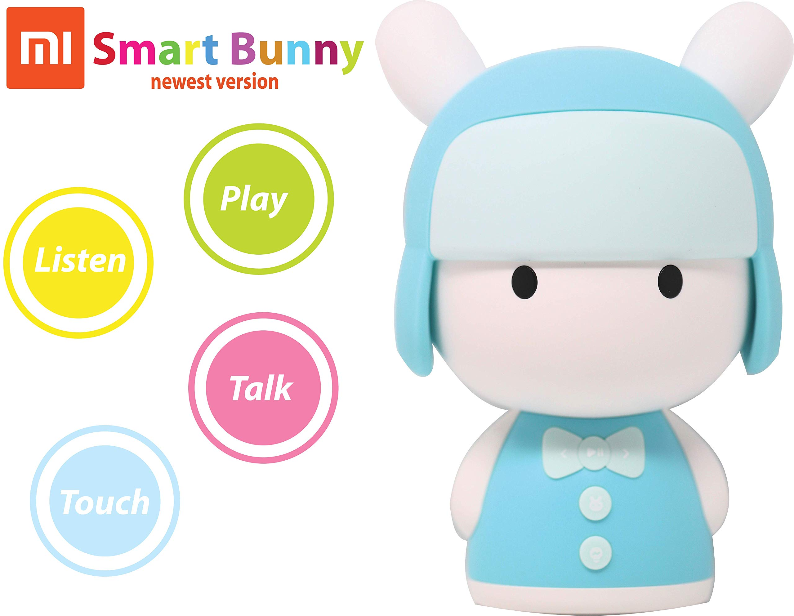 MITU Smart Bunny Mini Version - Story Robot and Song/Poem Player - Chinese/English Learning Toy - Educational Machine for Babies, Toddlers, and Kids - Baby, Toddler Birthday Gift-米兔 (Baby Blue)
