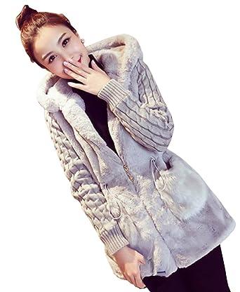 d01f4d6120d9e (ライズオンフリーク)RISEONFLEEK レディース 女性用 ファー ニット コート アウター トップス 長袖 かわいい