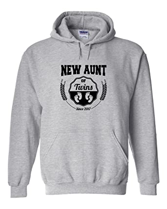 Amazon.com: New Aunt of Twins Since 2017 Hoodie: Clothing