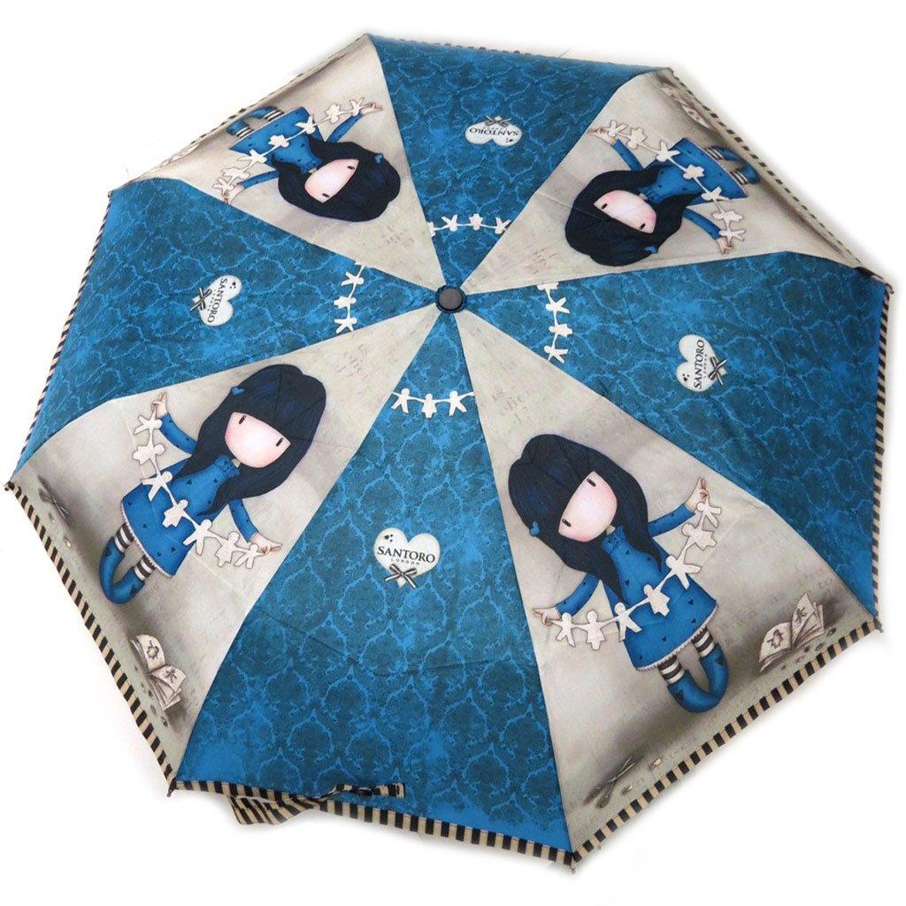 El paraguas automático Gorjuss Santorogris azul - 27,5 cm.: Amazon.es: Equipaje